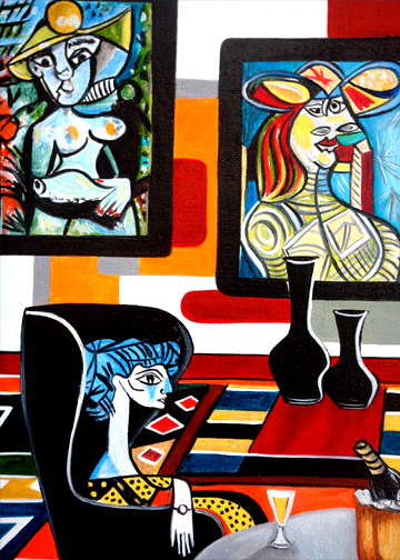 Sitting with picasso by k madison moore mt pocono pa for Picasso painting names