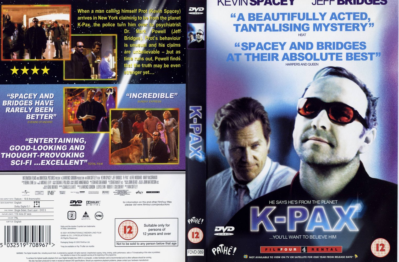 an analysis of iain softleys movie k pax A o scott reviews movie k-pax, directed by iain softley and starring kevin  spacey and jeff bridges photo (m.