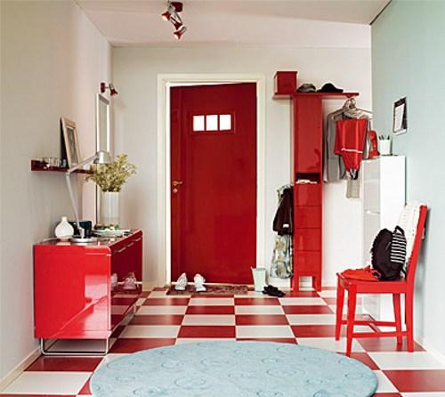 Decorando tu espacio decorando tu espacio en rojo y blanco for Decoracion piso rojo