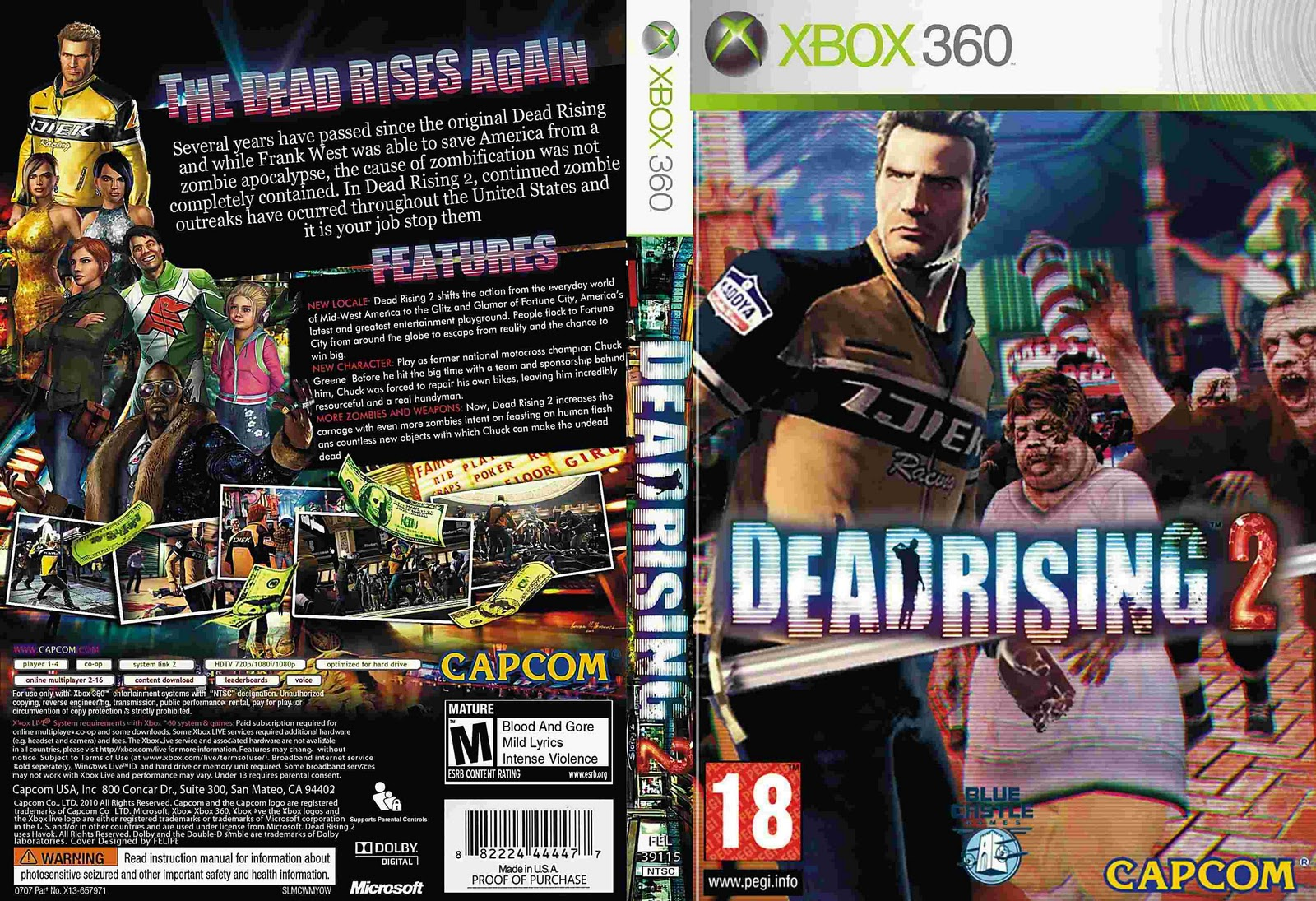 Dead Rising 2. Note: Internet connection required for game activation. Gam