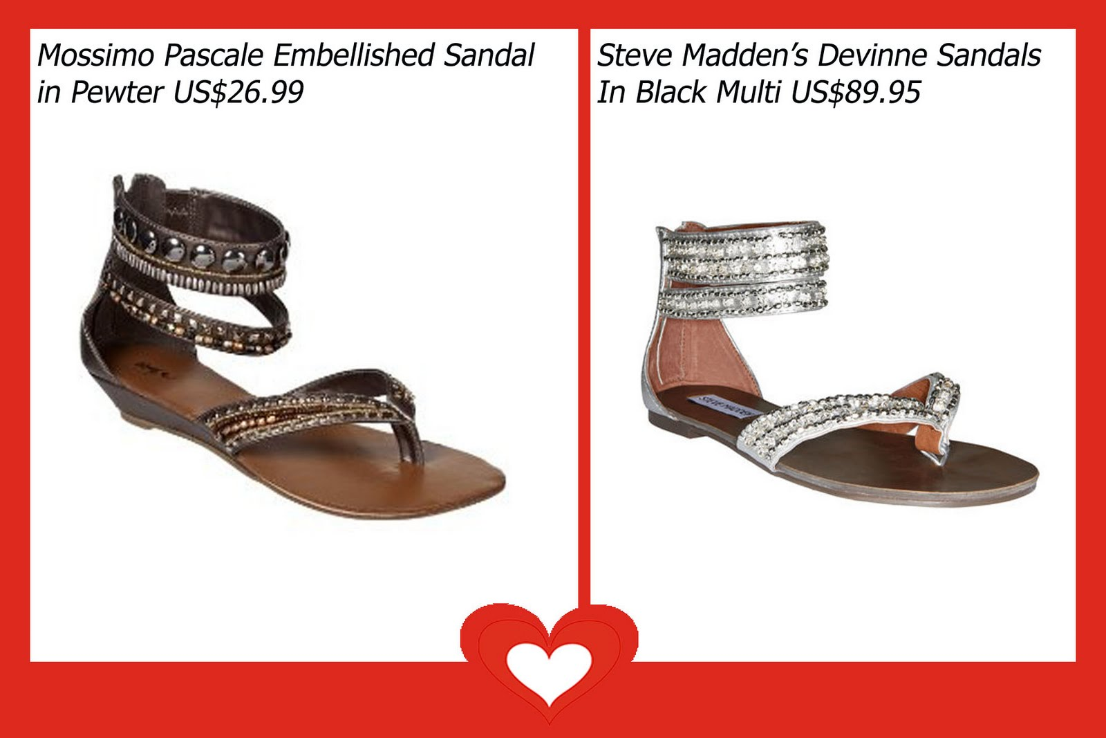 This bohemian gladiator inspired flats looks divine with short or long  skirts or dresses that are just the right length to allow the bejeweled  ankle design ...