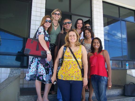 Formadores representantes da UnB _ Isabel, Carol, Fábio, Cátia, Valquíria, Lenita, Vângela e Luzia.