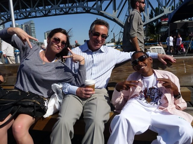 Tesfaye,Gary and Stephi on Granville Island