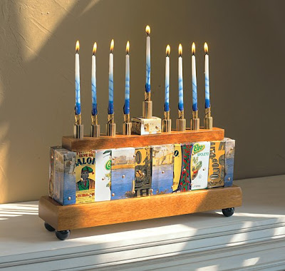 how to make a menorah out of clay