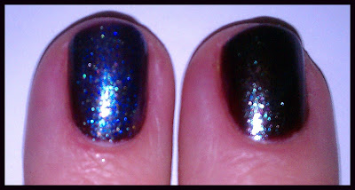 orly galaxy girl with chanel azur