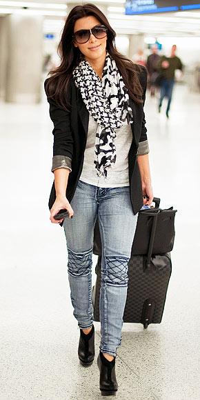 Fashionista 06340 Kim Kardashian Airport Style