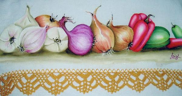 alho, cebolas, pimentões....