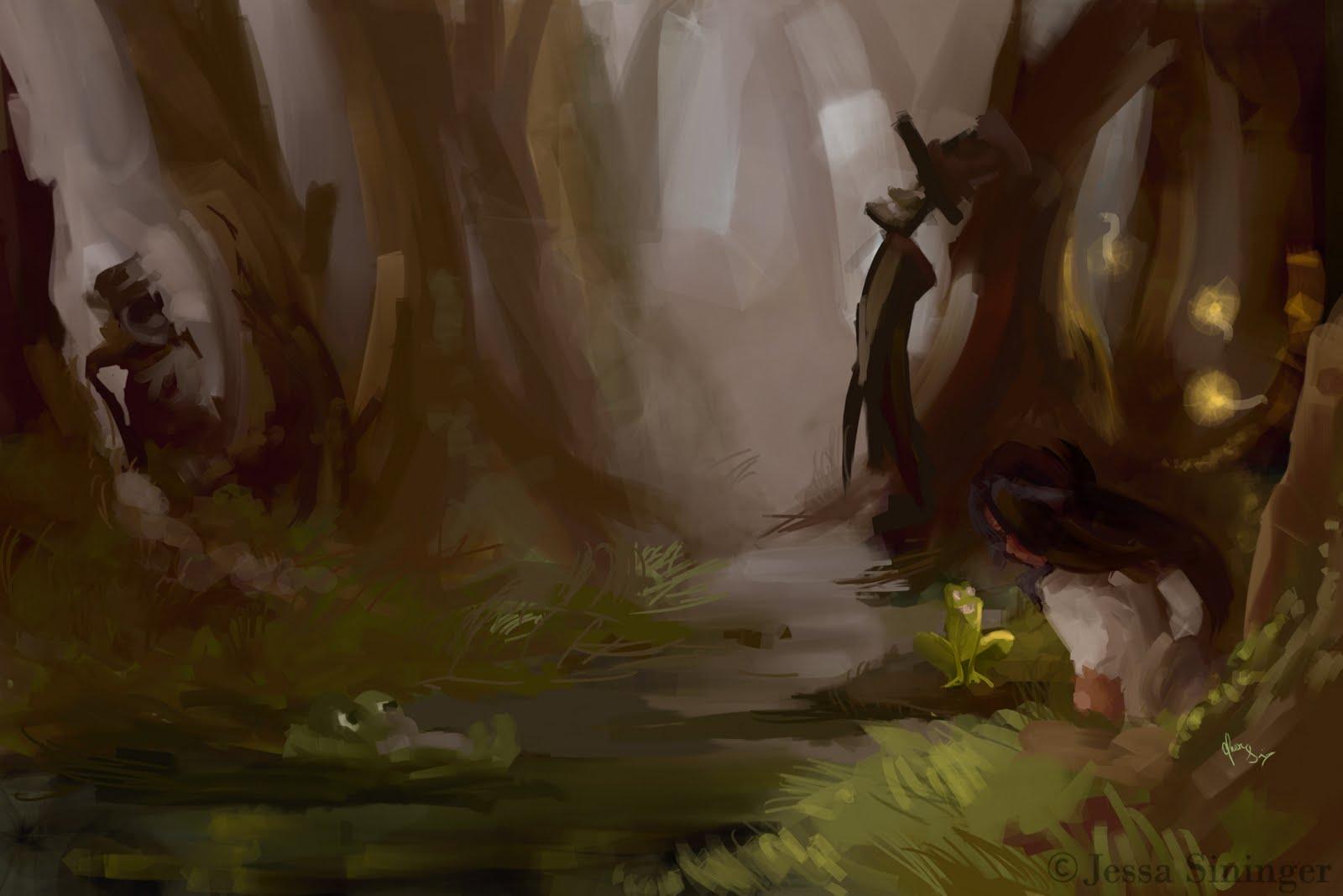 Jessa Sininger\'s Art Blog: The Princess and the Frog Art