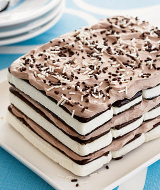 Ice Cream Sandwich Cake Recipe ~ Molten Chocolate Lava Cake