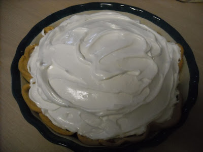 "Old Fashioned Chocolate Pie with Meringue Topping ""My Favorite Pie"""