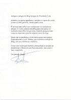Carta do  Presidente Lula aos leitores