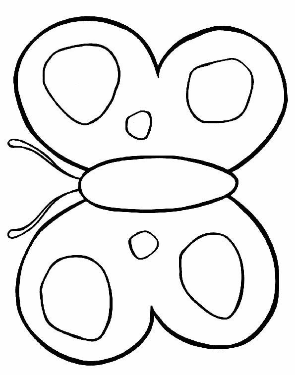 Silueta de mariposas para colorear - Imagui