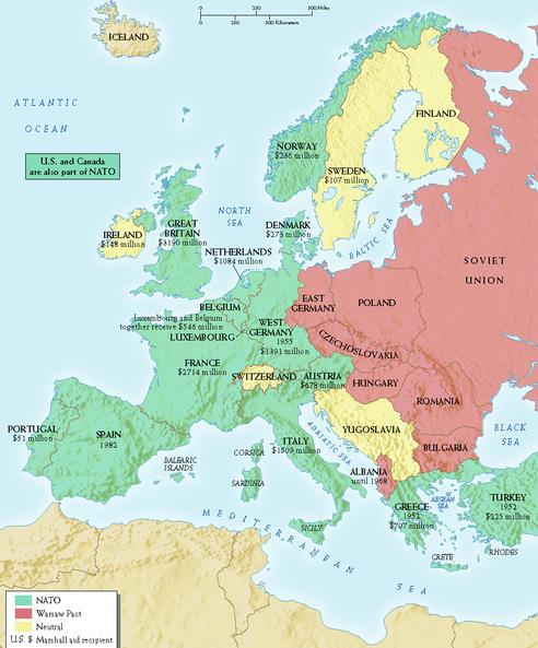 Heubecks European Civ Post WWII Germany - Germany map after ww2