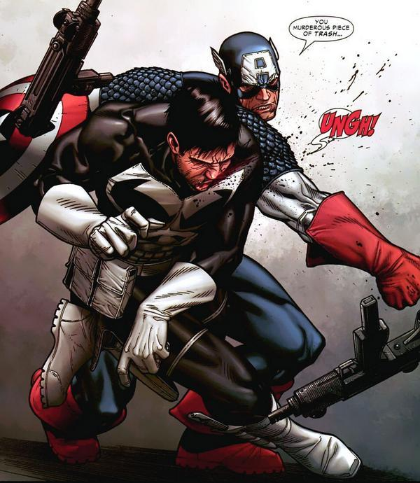 Favorite Fiction Grudge Match Captain America Vs Punisher