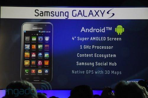 Samsung i9000 Galaxy S. Wireframe PSD GUI
