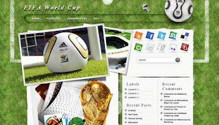 Fifa Word Cup Blogger Template 2010