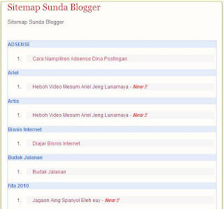 Cara Ngadamel Sitemap Di Blogger
