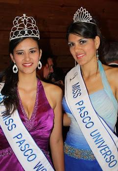 KATTY Y DELLA. LAS REINAS DE PASCO 2010-2011