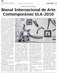 Diario Metropolitano. 19/8/2010