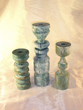 Hand Turned Candlesticks by Rory, $59