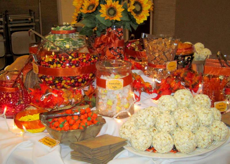 Candy buffet fall wedding