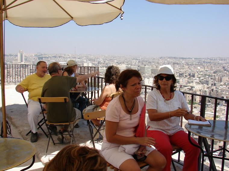 En el bareto de la ciudadela de Aleppo