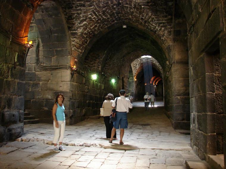 Por dentro de la fortaleza de Bosra