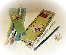 Estuches para lápices.