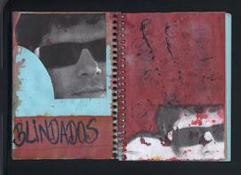 blindados - caderno azul de anotações 2005