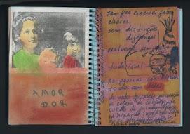 amor dor  - caderno azul de anotações 2005