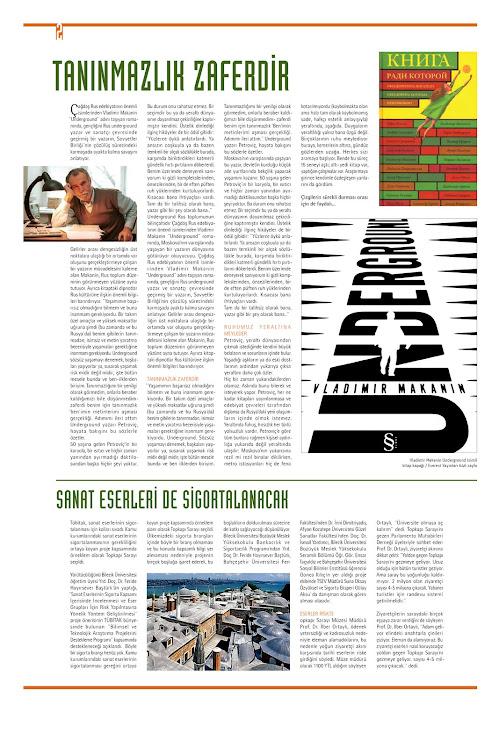 Uvertür adlı Gazete eki tasarımı arka sayfa