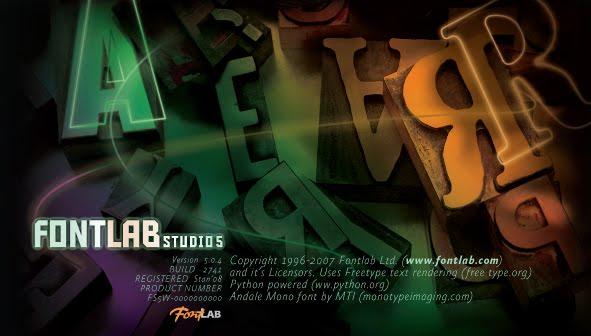 Fontlab Studio 5 - Arayüz tasarımı