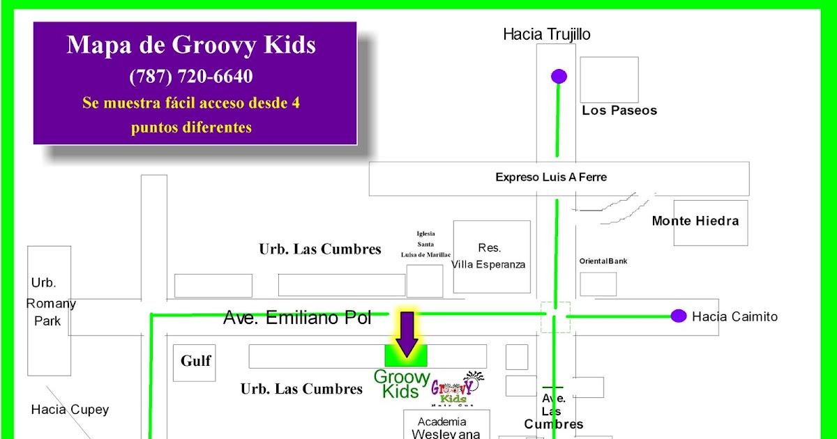 Bank Oriental De Bayamon:Groovy Kids: Mapa de Groovy Kids