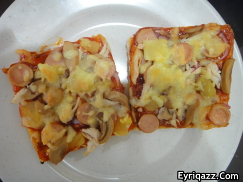 Pizza Sempoi (after 5 minutes )