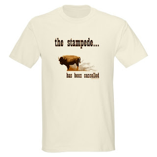 The stampede has been cancelled. Western, buffalo, mothers, teachers, funny tee