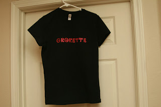 Snazzy Grokette t-shirt, handmade, win for free! Paleo, primal.