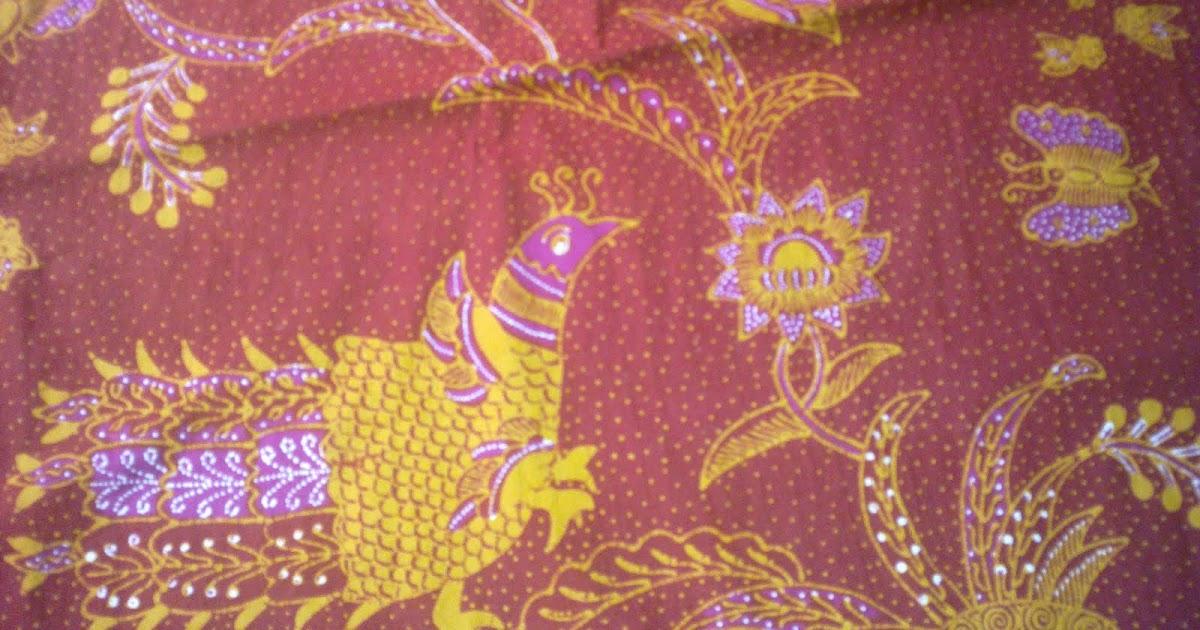 Tempat Belanja Batik: Batik Tulis Motif Burung Merah Bata