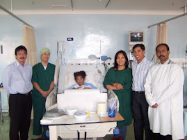 Marciela after heart operation in Putra Hospital Malacca 2007