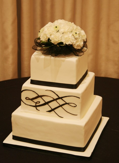 Modern Chocolate Wedding Cakes