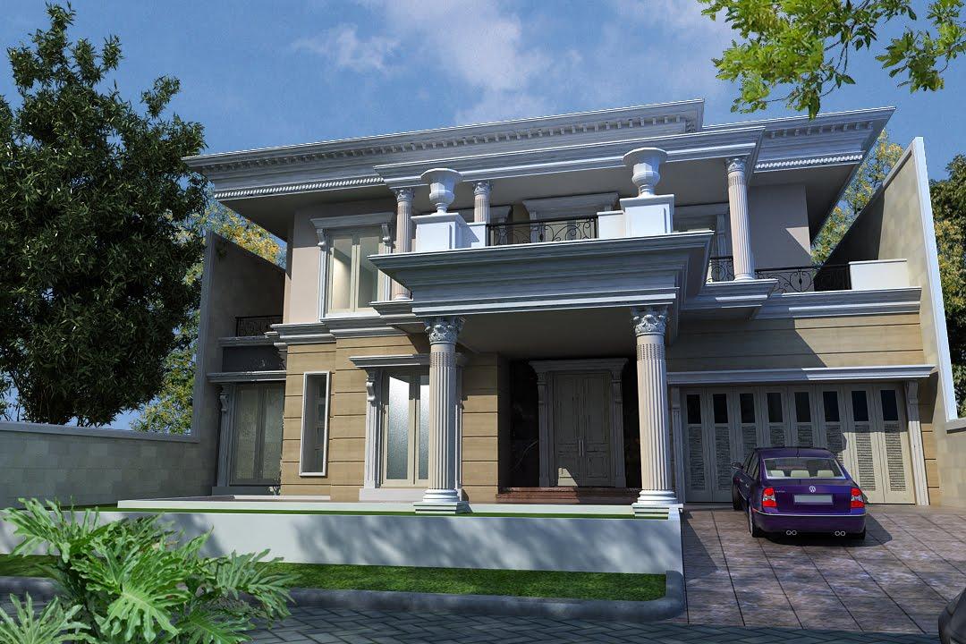 rumah modern klasik mediterania desain rumah klasik eropa
