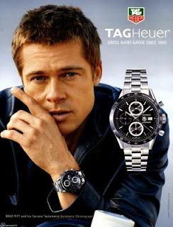 Brad Pitt - relojes Tag Heuer