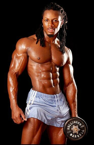 Male Fitness Model Exercise