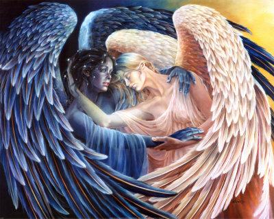 Estos angeles son la vida, lo bueno y lo malo, uno al lado del otro.