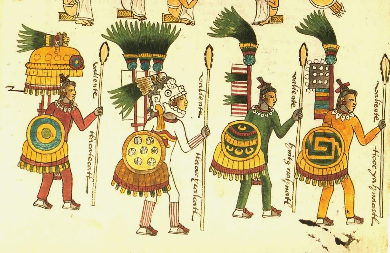 guerreros aztecas según el códice mendoza guerrero jaguar según el ...