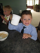 Samuel: Age 3.5 (drinking his coffee)