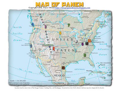 Another Map of Panem www.hungergameslessons.com