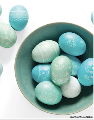 Lace eggs by Martha Stewart