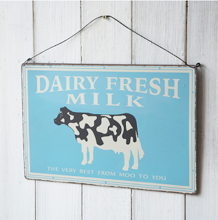 Dairy fresh milk sign