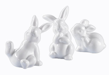 3 decorative bunnies by Tchibo