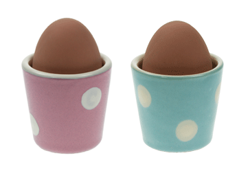 Polka dot egg cups by Omlet